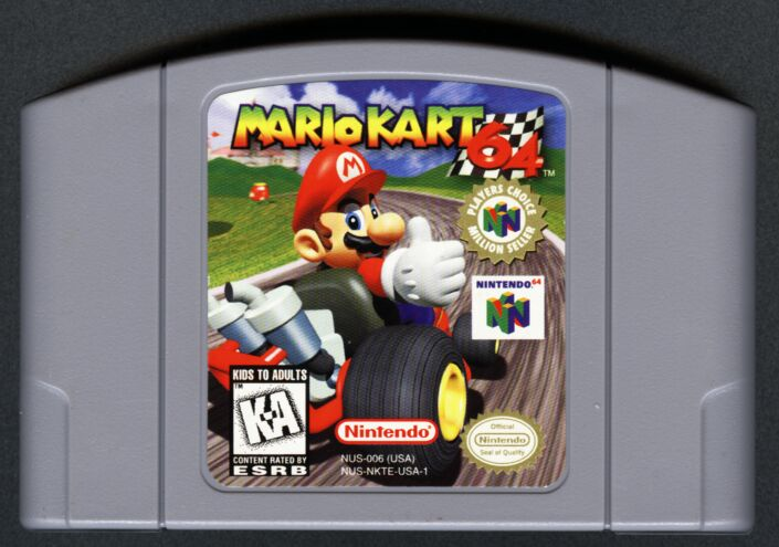 Original Mario Kart 64 Cartridge