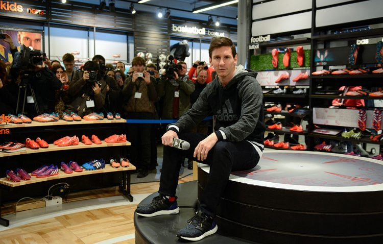 Leo Messi Inaugurates Adidas Store in Barcelona