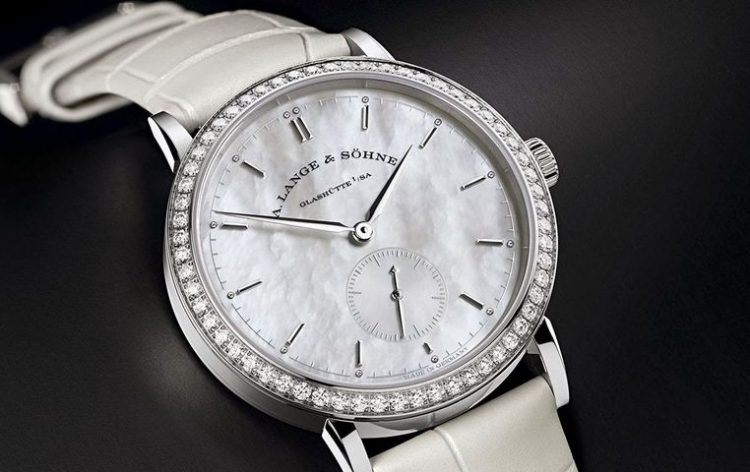 A. Lange and Sohne Saxonia Mother of Pearl and Diamond
