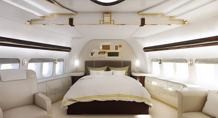 Master Bedroom on a Plane