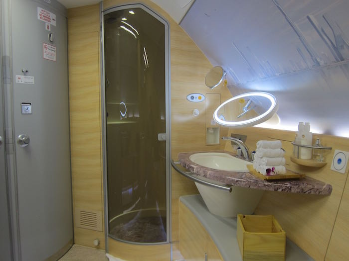 Shower on a Plane