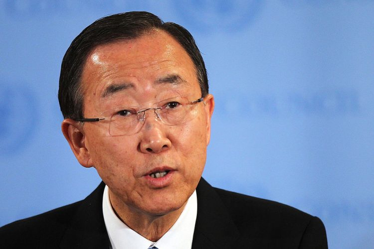 United Nations Secretary General Ban Ki-Moon Addresses Situation In Syria