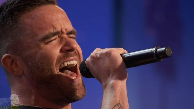 Brian Justin Crum singing his heart out