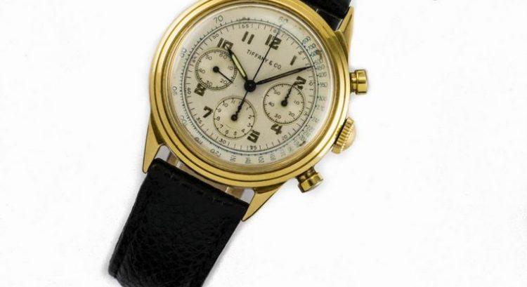 Movado Tiffany and Co Gold Chronograph