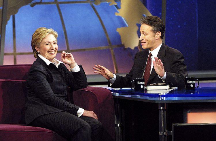 Senator Hillary Rodham Clinton and Jon Stewart