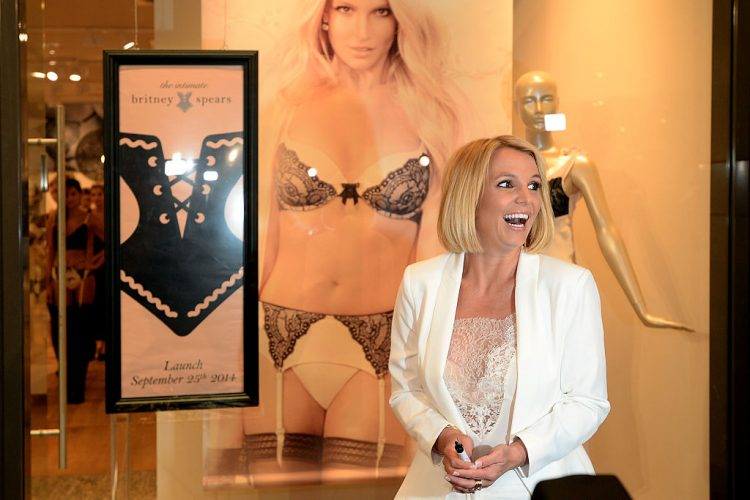 Britney Spears Presents Her Dessous Collection 'The Intimate Collection'