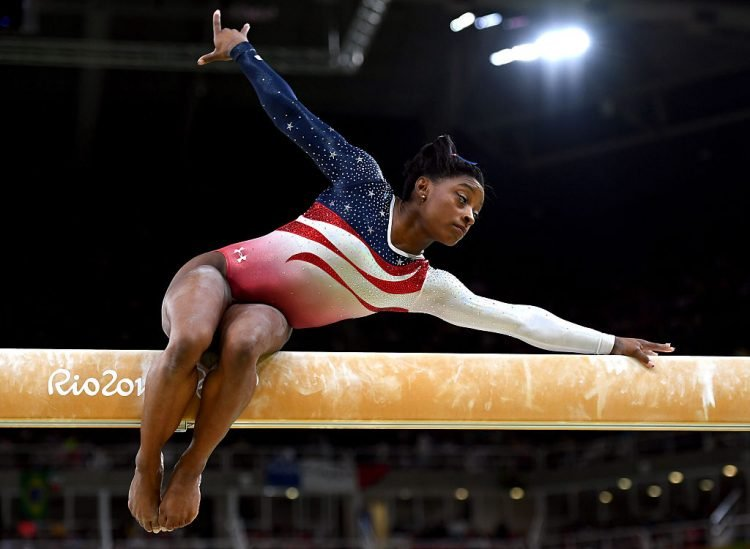 Simone Biles on the Balance Beam