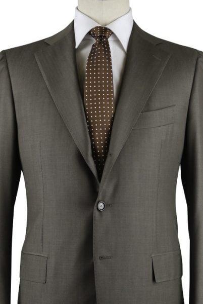 Cesare Attolini Olive Green Suit