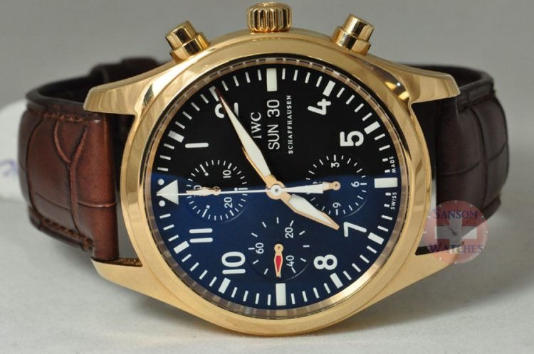 IWC Pilot's Watch- Spitfire Chronograph 18K Rose Gold