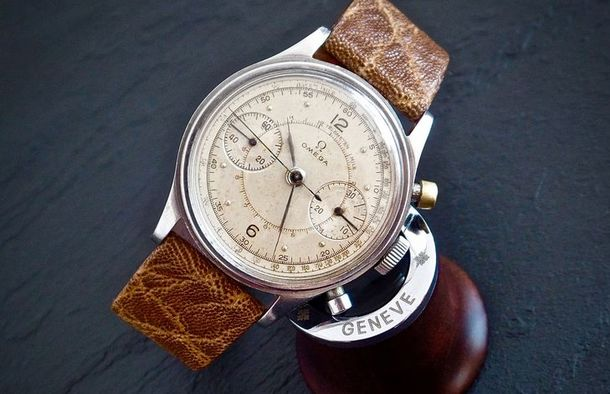 Omega Grail - Military Chronograph Pilots Watch