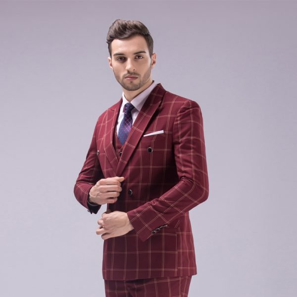 Richard Seco Red Double Breasted Suit