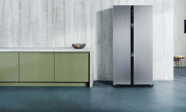 Side by side Panasonic fridge freezer