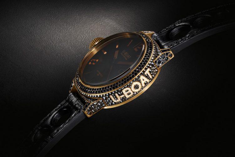 U-Boat Black Swan Lux Watch Italo Gold & Diamonds
