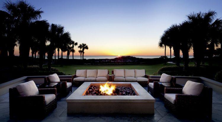 Ritz Carlton Amelia Island oceanfront firepit