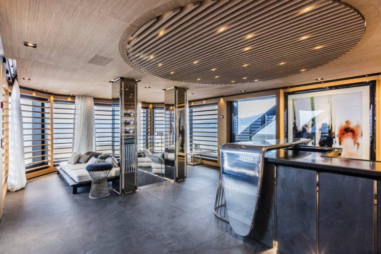 Suerte 69M Superyacht Bar Area