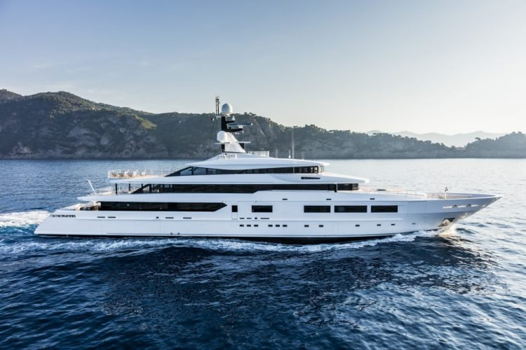 Suerte 69M Superyacht Side View