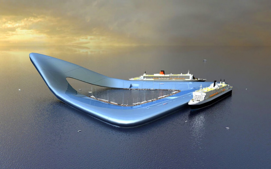 The Future Of Eco Friendly Travel With Luxurious Amenities - Physalia-a-huge-floating-garden-by-vincent-callebaut