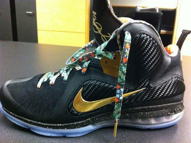 Sneaker Lebron James Gold Shoe Laces