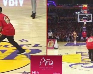 Lakers fan Jerald Acoba $95k half court shot