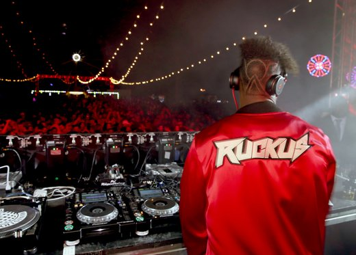 DJ Ruckus performs at The Levi's Brand Presents NEON CARNIVAL with Tequila Don Julio on April 15, 2017 in Thermal, California. (Photo by Jonathan Leibson/WireImage)