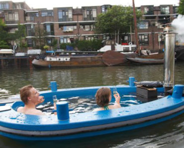 The HotTug Hot Tub Boat is Luxury on the Water