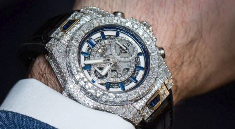 f7be6b57d1d4 Hublot Big Bang Diamond Wrist Watch –  5 million. Tied for ninth place of the  most expensive watches ...