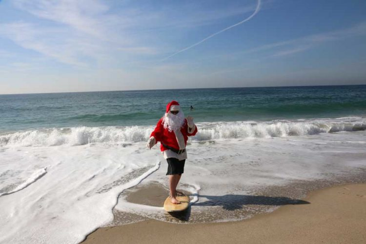 spend christmas day on the beach soaking up the bountiful surf and sunshine