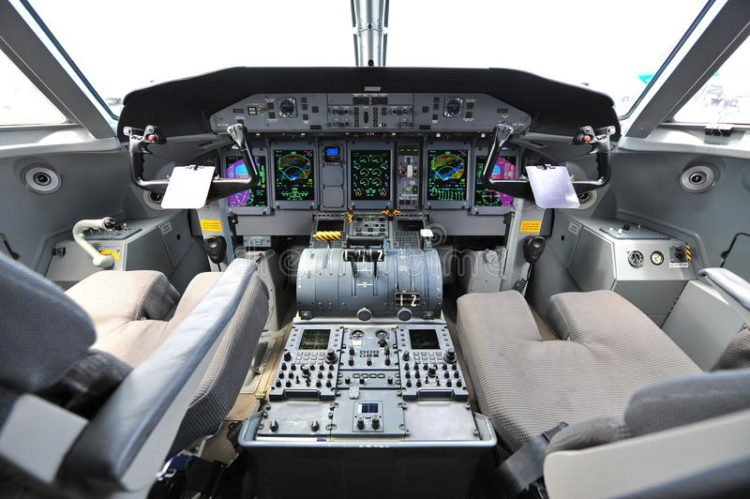 Cockpit of Bombardier Q400