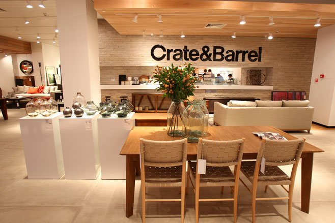 Interior of a Crate and Barrel store