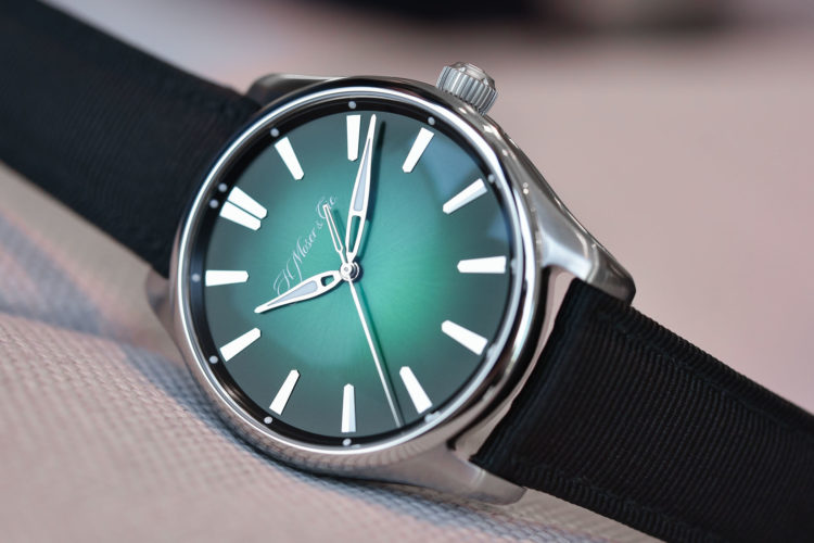 H. Moser & Cie Pioneer Centre Seconds Cosmic Green Front