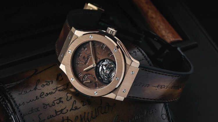 Hublot Classic Fusion Tourbillon Berluti Scritto King Gold