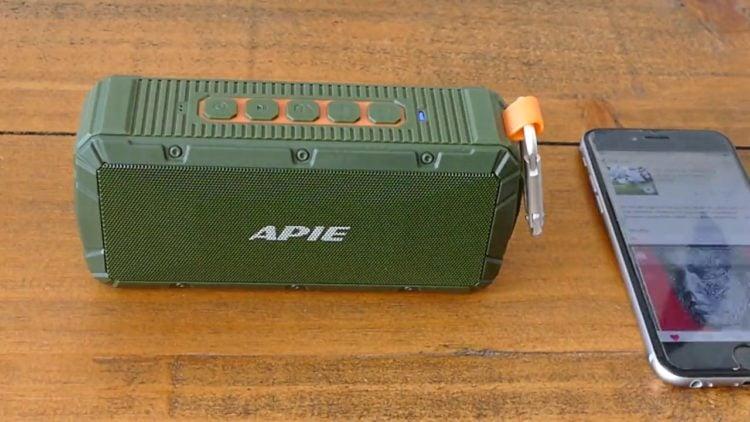 APIE IPX6 Waterproof Outdoor Bluetooth Speaker