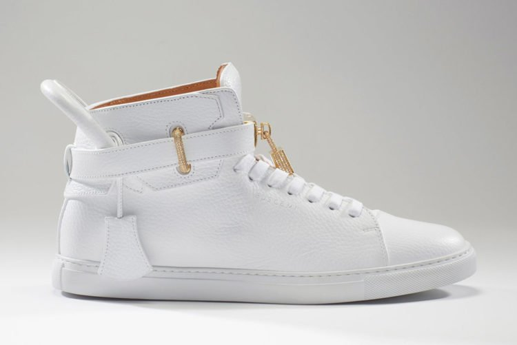 74fd4ae15f9f This pair of white Buschemi 200 MM Diamond sneakers is valued at a mind  boggling  132