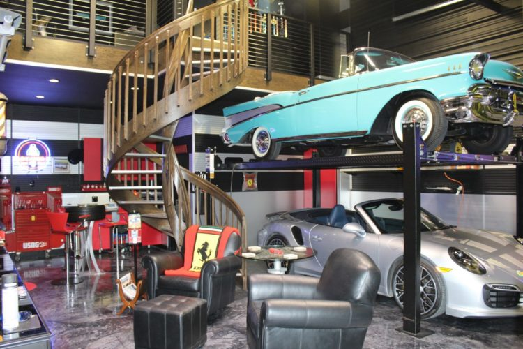 concept of man cave as souped up garage picks up steam in texas. Black Bedroom Furniture Sets. Home Design Ideas