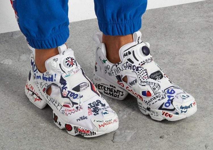 """4d837336a5df6 This is the newest edition of the """"Instapump Fury"""" with the Vetements +  Reebok branding that offers a bold aesthetic in the Parisian inspired  design from ..."""