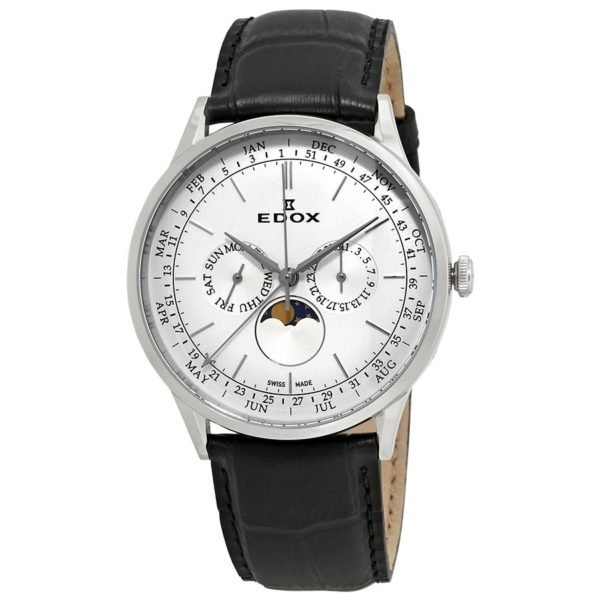 Edox Les Vauberts Silver Dial Men s Watch 40101 3C AIN 12157d3019