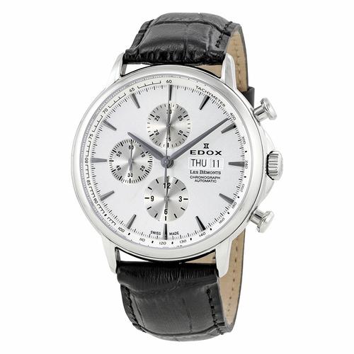 EDOX Les Bemonts Chronograph Automatic Silver Dial Men s Watch af13c81a20
