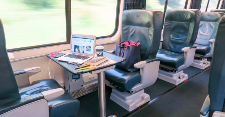 Ride First Class On Amtrak