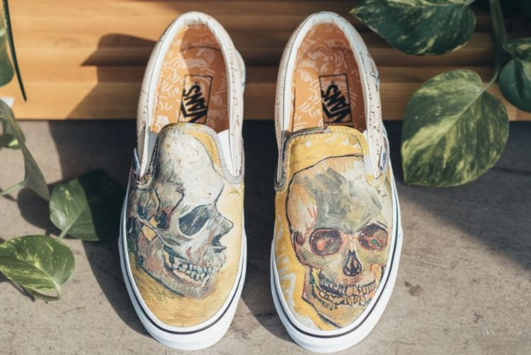 Vans X Vincent Van Gogh Museum Skull Slip-on Sneaker – Price   85 816ccc67b