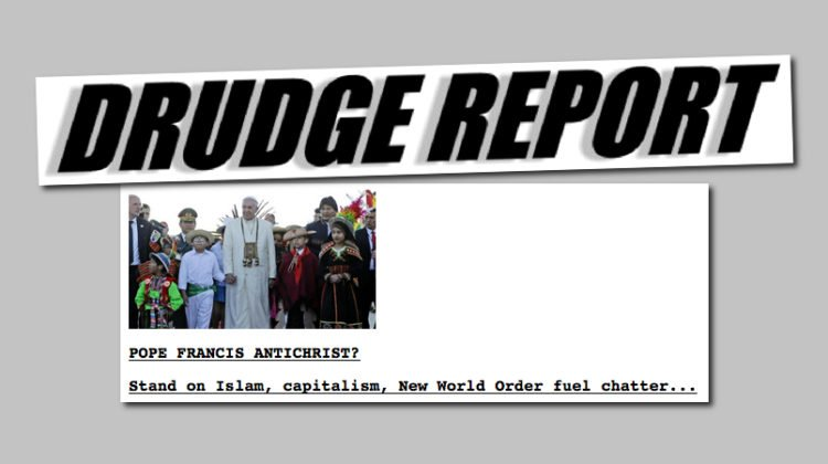 How The Drudge Report Rose to become a Political Force