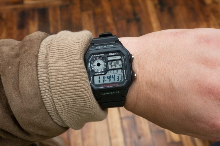 Casio World Map Watch.A Closer Look At The Casio Ae1200wh 1a World Timer