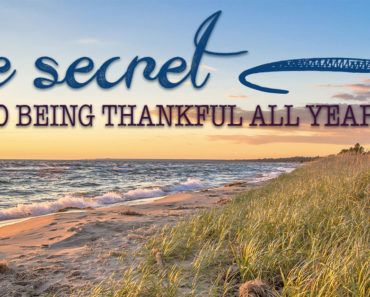 Giving Thanks for Opportunities