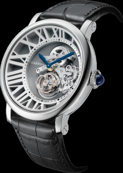 Rotonde De Cartier Flying Tourbillon Reversed Dial Watch