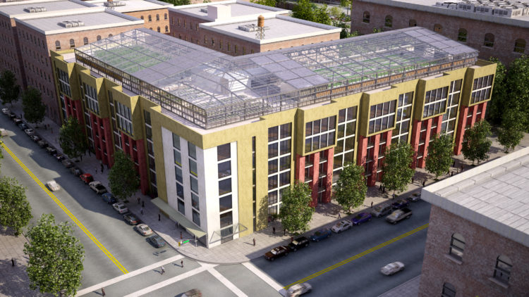 Affordable housing project building