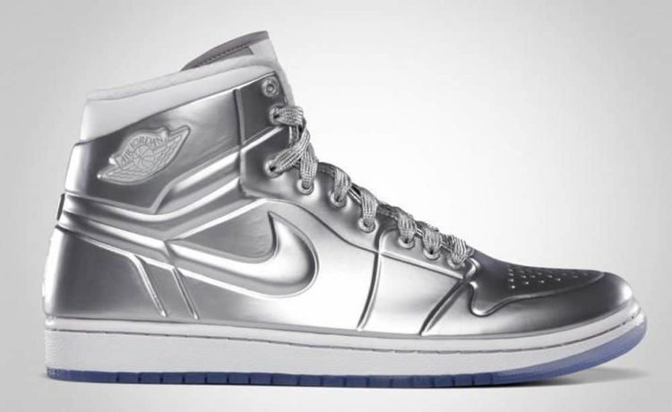 A Closer Look at the $60,000 Air Jordan Silver Shoes