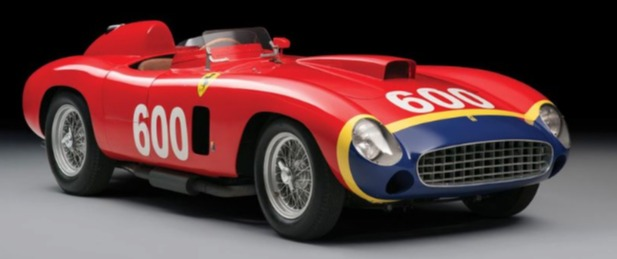 1956 Ferrari 290 MM Red and Blue