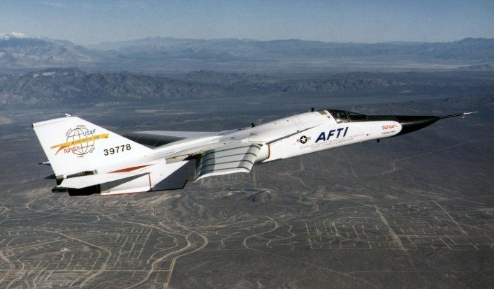 AFTI fighter jet