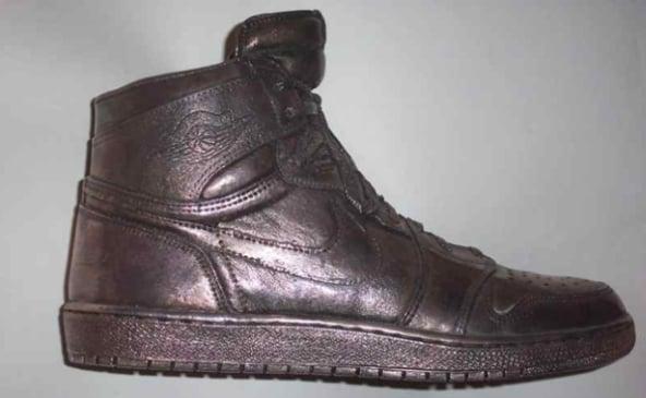 Air Jordan Silver Shoe (Autographed)