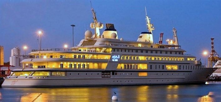 Superyacht Al Said docked