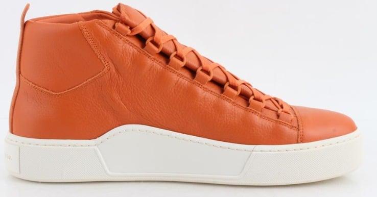 Balenciaga Thick Sole Grained Leather Sneaker (Orange)